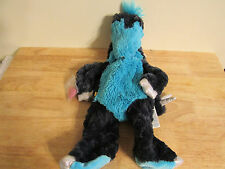 build a bear unstuffed blue dragon stegosaurus dinosaur and heart 18'' 2013