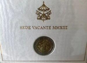 2 euro commémorative VATICAN 2013 , Sede Vacante , dans son coffret