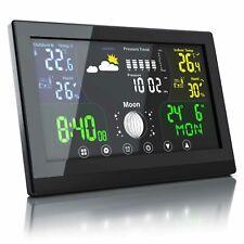Bearware Funk Wetterstation mit Farbdisplay + Sensor- Innen Außentemperatur uvm.