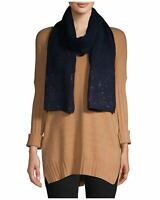 Calvin Klein Womens Studded Knit Scarf Navy