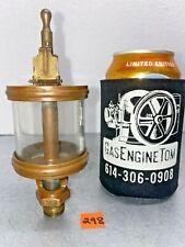 Brass Oiler #553 Hit Miss Gas Engine Antique Steampunk Spring Flip Cover