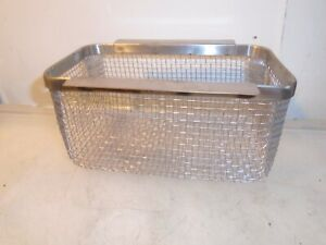 """ULTRASONIC CLEANER SMALL STAINLESS STEEL MESH BASKET  8 3/4"""" X 5"""" X 4 1/4"""""""