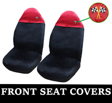 BLACK and RED Car Seat Covers UNIVERSAL Protectors Fits BMW