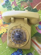 Vintage Yellow Western Electric Rotary Phone Desk 1970s Model 500