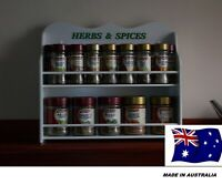 Spice Rack . (HERB & SPICE ) 10 to 28 JAR NEW made in OZ.