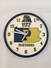 Pitt Panthers College Football Wall Clock Heavy Resin Raised Numbers Works