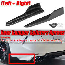 Carbon Fiber Look Rear Bumper Aprons Lip Spoiler For Toyota Camry SE XSE 18-2020
