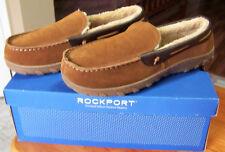 Rockport Men's Memory Foam Suede Indoor-Outdoor Moccasin Slipper Sz.12.5-13*NEW*