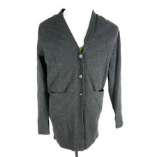 Paul Smith Mens Solid Grey 100% Wool Button Down Sweater Cardigan Sz Small