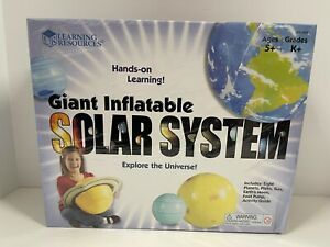 Learning Resources Giant Inflatable Solar System Space Universe Kids Ages 5+ New