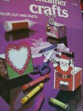 Container Crafts Coloring Book Makes Little Boxes- Dinosaurs, Santa, Butterfly,
