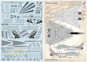 Print Scale 72-390 Tomcat F-14 A Part 3 - 1/72 scale