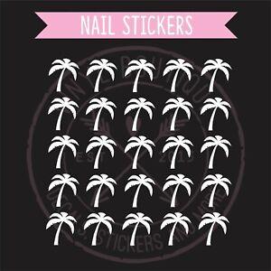 Palm Tree Finger Nail Art Manicure Pedicure Salon Decal Stickers Nail Vinyls