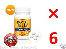 LOT 6 Suntory Royal Jelly Sesamin E for 6 months anti aging amino acid Japan