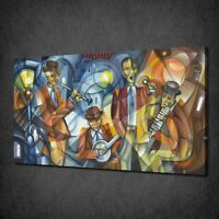 ABSTRACT CUBISM JAZZ BAND CANVAS PRINT PICTURE WALL ART FREE FAST DELIVERY
