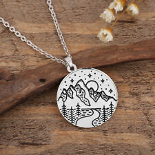 Moon Pendant Leisure Nature Necklace Outdoor Adventure Mountain River Star and
