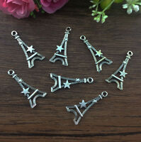 12pcs Eiffel Tower Tibetan Silver fit Pendants bracelet beaded Charms 30x14mm A1