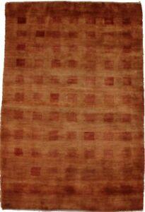 Vintage Extra KPSI Tribal Solid 4X6 Gabbeh Handmade Oriental Area Rug Carpet