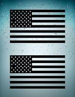 Set 2x sticker decal car usa flag united states black american camo