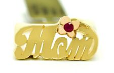 RUBY MOM NAME RING 14k Yellow Gold * BRAND NEW WITH TAG