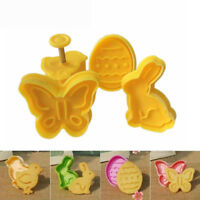 Easter Egg Rabbit Chick Butterfly Plastic Plunger Fondant Cookie Cutter Mold