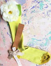 Alto Milano Womens Socks Grass Fine Ribbed Flower CalfLength Med UK 3-5 EU 36-38