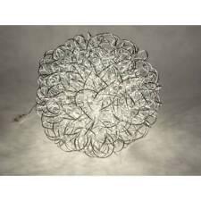 fil rectangulaire H 100 cm 25x25cm Argent tourné d/'Art Formano Sol lampe éclairage
