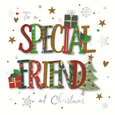 To A Special Friend Embellished Christmas Greeting Card Special Xmas Cards