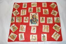 New listing Antique Tobacco Silks Cigarette Silks 28 Native Americans Pillow Cover