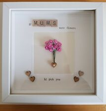BEAUTIFUL MUM NANA NANNY GRANDMA QUOTE FRAME FLOWERS HEARTS LOVE BIRTHDAY GIFT