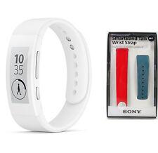 SONY SWR30 SmartBand Talk Lifelog Original White + SWR310 blue red set