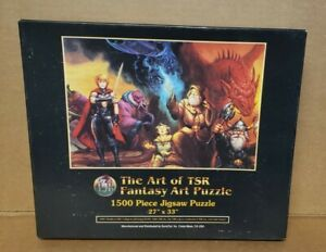 NEW SEALED 1992 Worlds of TSR - The Art of TSR Fantasy Jigsaw Puzzle 1500 Pieces