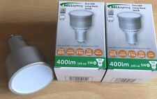 Bell 74mm Long 5 Watt Cool White Gu10 LED Replaces Old CFL Type Bulbs Pack of 4