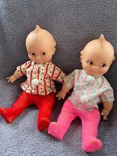 Two Vintage Kewpie Cameo Dolls Original Cloths in Great Condition