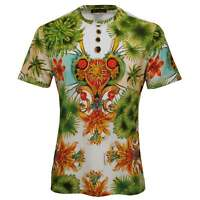 Versace Miami Print Luxe Crew-Neck Men's T-Shirt, Multicolour