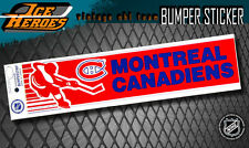 MONTREAL CANADIENS Vintage Bumper Sticker - Unused - NOS - NM
