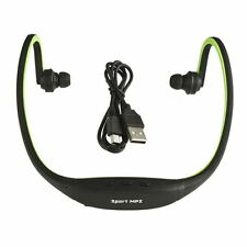 USB Sport Running MP3 Music Player Wireless Headset Headphone TF Slot F5