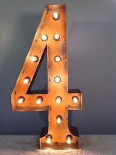 "24"" Vintage Marquee Light Number 4  (rustic)  24"" Free Shipping"