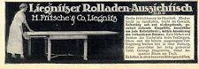 Liegnitzer Rolladen-Ausziehtisch D.R.P. Fritsche & Co. Historische Annonce 1913
