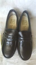 Womens Ms. By Iron Age Black Steel Toe Safety Shoes Sz 7.5W Leather Loafers