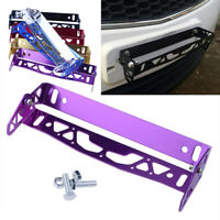 Purple Car Truck Number Plate Frame Surrounds Holder Licence Cover Metal For BMW