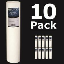 "10-PK Big Blue 20 x 4.5"" (5 Micron) Sediment Whole House Water Filters Iron Rust"