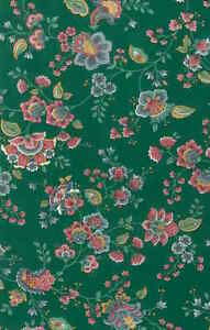 Green Floral Paisley Vintage Wallpaper Rose Pink YM7061 Double Rolls