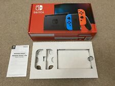EMPTY NINTENDO SWITCH BOX complete with Inserts - Neon Red and Blue - BRAND NEW!
