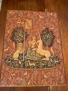 Vintage Lady and the Unicorn Tapestry