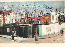 """Maurice Utrillo, """"Montmartre"""", Ltd. Ed. lithograph, signed in plate"""
