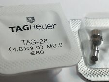 Tag Heuer screwdown crown WHITE  4.8x3.9mm NEW with Tags (M0.9) Tag-26 with tube