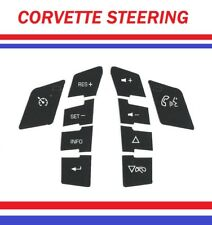 Replacement Steering Wheel Control Button Stickers For Corvette New