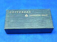 VINTAGE 1960s JAPAN UNIVERSAL 6 TRANSISTOR RADIO BOX ONLY