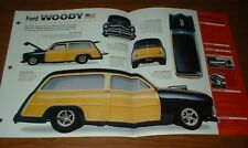 ★★1950 FORD WOODY SPEC SHEET BROCHURE PHOTO INFO 50 CUSTOM WAGON★★